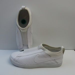 Nike Racquette White Leather Slip On Shoes Sz. 8